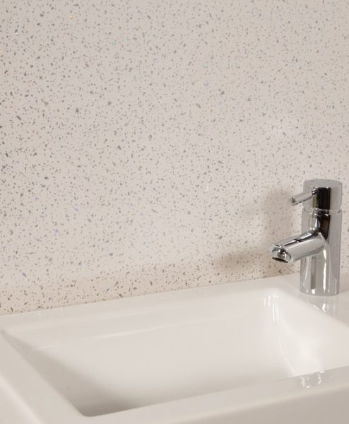 White Sparkle Shower Panel