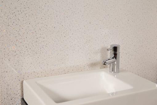 White Sparkle Shower Panel