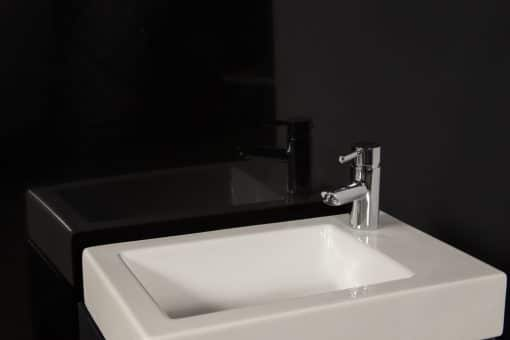 Striking Black Sink