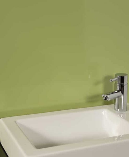 Striking Green Sink