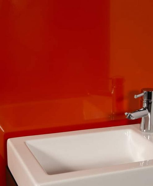 Striking Orange Sink