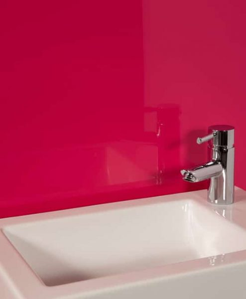 Striking Pink Sink