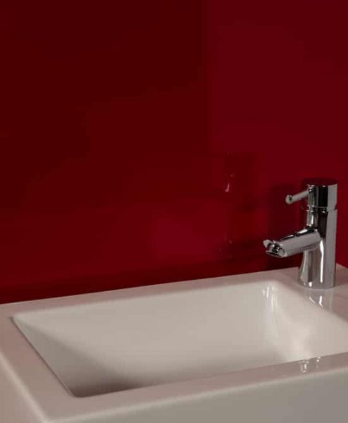 Striking Red Sink