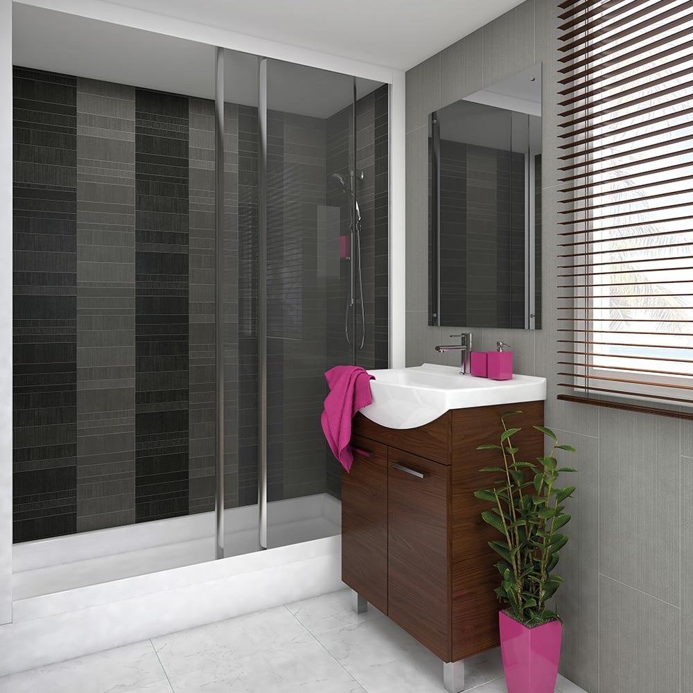 modern decor graphite small tile effect panel 4 pack