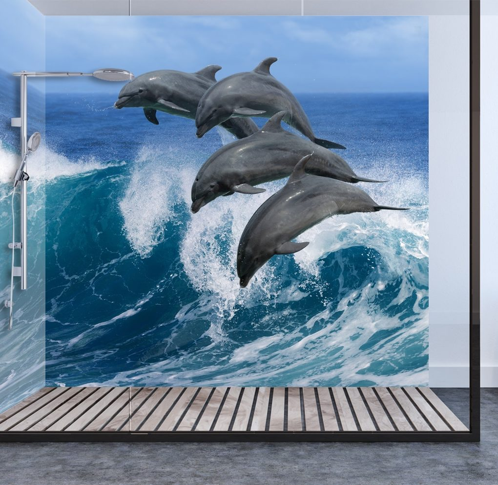 Dolphins Shower Panel