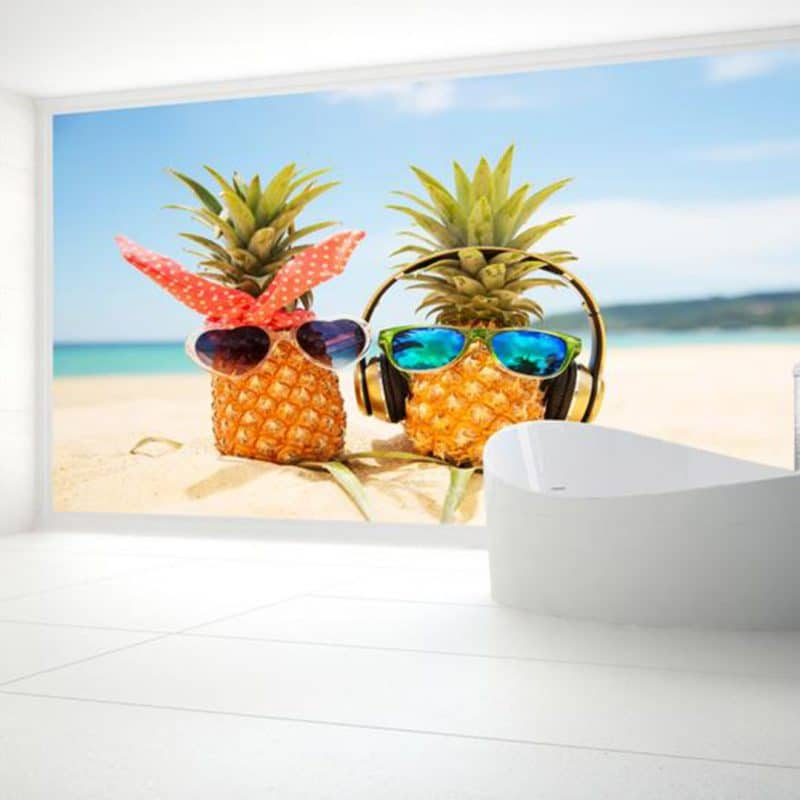 Funky Pineapple Shower & Bathroom Wall Panel