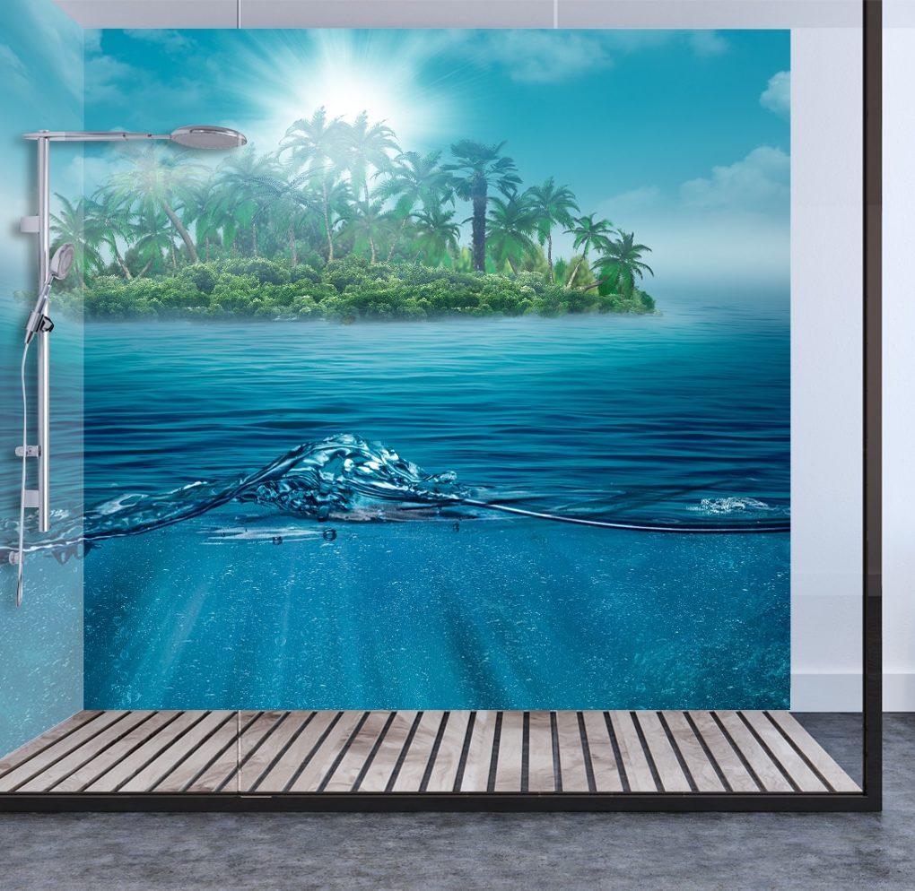 Island Shower Panel