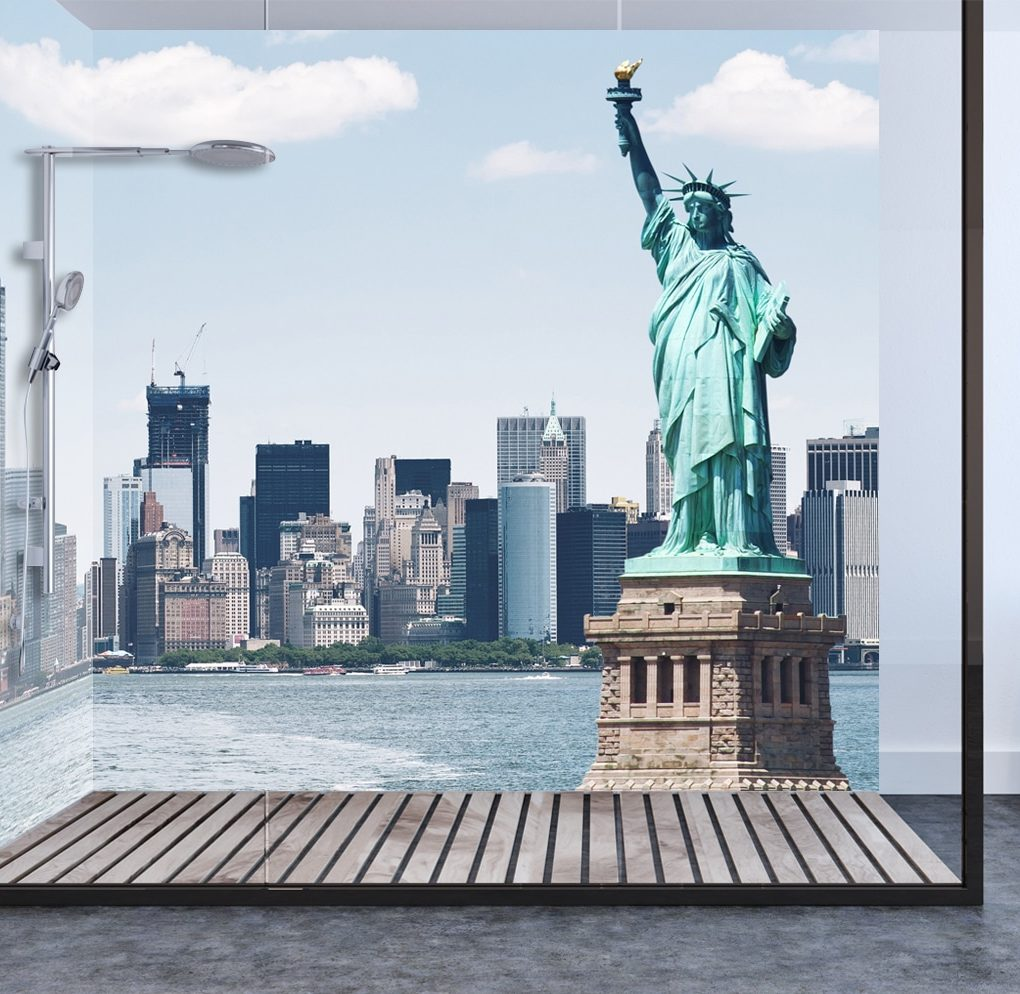 Statue of Liberty Panel Shower & Bathroom Wall Panel