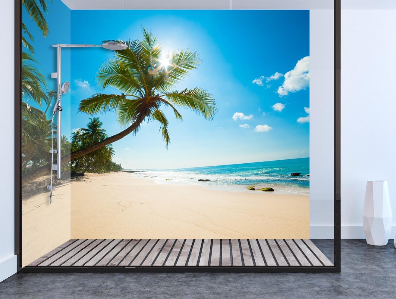 Palm Tree Shower & Bathroom Wall Panel