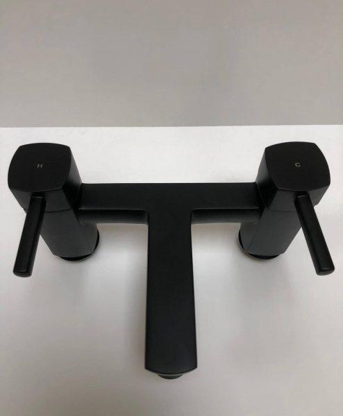 Icicle bath filler black 2 Tap