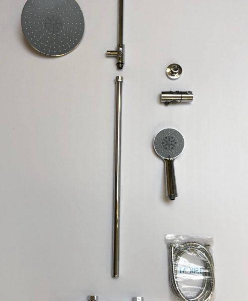 Shower round chrome